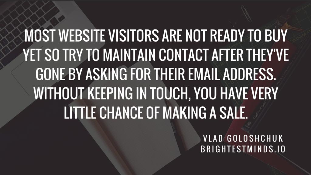 B2B lead generation through website conversion